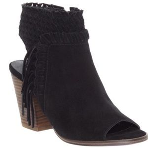 🆕Lucky Brand Braided Suede Booties